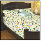 Godrej Interio Radical Neutrality Double Bedsheet - Tetris M, multicolor
