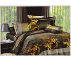 welhouse india Cotton Leaves Print Design Double BedSheet With 2 Pillow Cover, multicolor