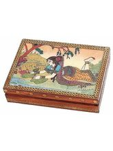 Real Gem Stone Jewellery Box-010(Multicolor)