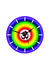 Colorful Om Wall Clock