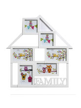 Elegant White Collage Family Photo Frame, white