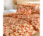 Aapno Rajasthan Polyester Floral Print Double Bed AC Quilt, multicolor