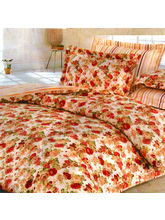 Aapno Rajasthan Polyester Floral Print Single Bed AC Quilt, multicolor