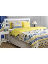 House This Blooming Navy 1 Double Duvet Cover, blue