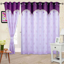 Cortina Embroidery Premium-150- Curtain,  purple