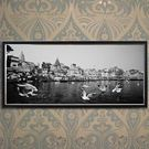 Engrave Benares Ghats Canvas, multicolor