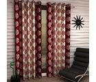 Story At Home Polyester 5 Feet 1 Pc Window Curtain (WTA1205-S), red