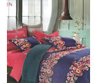 Aapno Rajasthan Lovely Cotton Double Bedsheet with Floral Print, blue