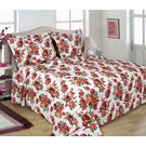 Turu Comforter Set of 5 Floral Design,  white