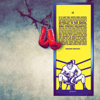 Engrave The Man in the Arena Canvas, multicolor