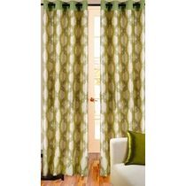 Cortina Premium 9Ft Curtain,  green