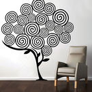Creative Width Swirl Tree 2 Wall Decal, multicolor, large