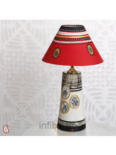 An Elegant Hand Painted Lampshade In Terracotta (Multicolor)