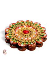 Floral Design Kumkum Chopra Made In Wood And Clay (Multicolor)