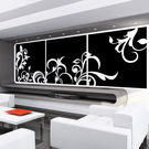 Creative Width Vines N Leaves Wall Decal, multicolor