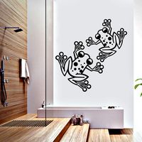 Creative Width Naughty Frogs Wall Decal, multicolor, medium