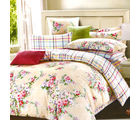 Aapno Rajasthan Soothing Cotton Double Bedsheet with Floral Print, beige