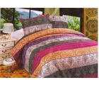 Valtellina Pollycotton Abstract Design Double Bed Sheet, multicolor