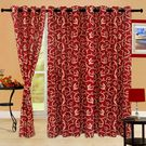 Cortina Bamboo 7Ft Curtain,  maroon