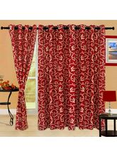 Cortina Bamboo 9Ft Curtain, maroon
