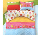 Aapno Rajasthan Cotton Double Bedsheet with Floral Print, multicolor