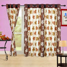 Cortina Autumn Leaf- 5Ft Curtain,  coffee