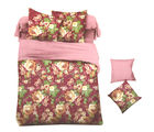 Aapno Rajasthan Polyester King Size Bedsheet with Beautiful Floral Print, magenta