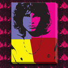Engrave Jim Morrison Canvas, multicolor