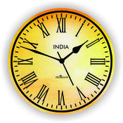 Zeeshaan Wall Clock, multicolor
