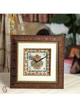 Gold painted Marble Kalash Clock (Multicolor)