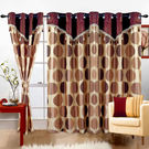 Cortina Print Drape 5Ft Curtain,  coffee