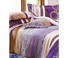 Sani Double Bedsheet With Two Pillow Cover, multicolor