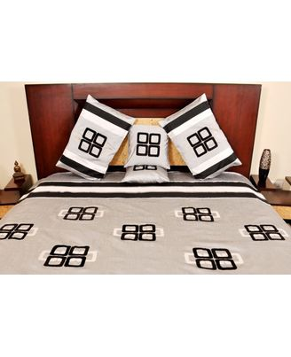Banana Prints Set of Five Chain Bed Cover - BC_ 3006, multicolor
