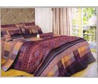 welhouse india Cotton Checkred Design Double BedSheet With 2 Pillow Cover, multicolor
