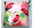 Welhouse India Nature Lover 3D Digital Cushion Cover, multicolor