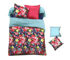 Aapno Rajasthan Polyester King Size Bedsheet with Deep Floral Print, multicolor