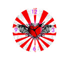 Red Heart Wall Clock