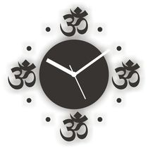 Om Special Wall Clock Black,  black