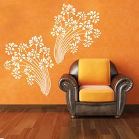 Creative Width Beautiful Flowers Wall Decal, multicolor, small