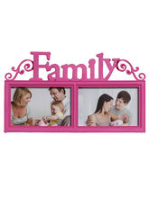 Lovely Pink 2 Pictures Collage Photo Frame, pink