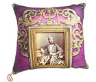 Rajas of Rajastani Digital Print Poly Velvet Cushion Covers, pink