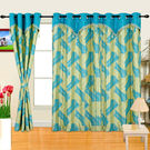 Cortina Designer Candy 5Ft Curtain,  sky blue