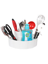 Cipla Plast Kitchen Knife-Spoon-Cutlery-Utensils Holder Stand & Organizer - White, white