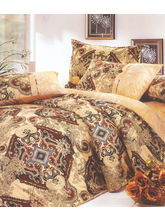 Valtellina Ethnic Print 2  Single Bed Sheets With 2 Pillow Covers, brown