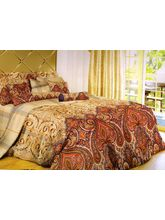 Welhouse India Polycotton Geomatric Design 4pcs Bedding Set, beige