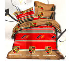 Aapno Rajasthan Polyester Double Bedsheet with Contemporary Porche Print, multicolor