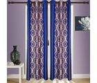 SWHF Printed Curtain Set of 2 Evil-Eye, blue