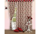 Floral Rush curtain (Multicolor, Curtain(54 inch x 60 inch))