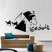 Creative Width Egyptian Queen Wall Decal, multicolor, small