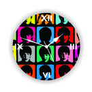 Colorful Faces Wall Clock